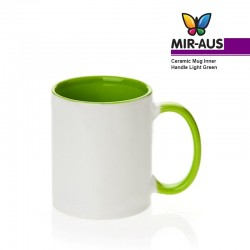 Sublimation Ceramic Mug Inner Handle Green 48 pièces