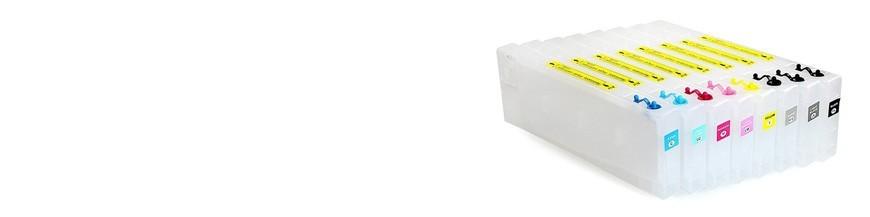Påfyllningsbara patroner använda för Epson pro 7400