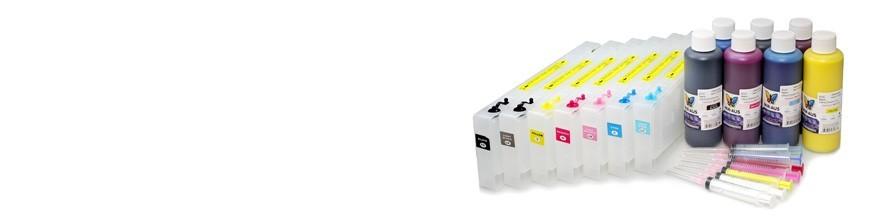Påfyllningsbara patroner använda för Epson pro 7600