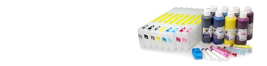 Uso de cartuchos recarregáveis para Epson Pro 4800