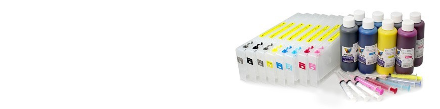 Påfyllningsbara patroner används för Epson Pro 4880