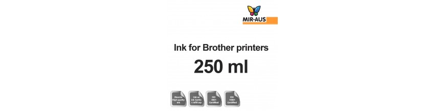 Refillable ink 250 ml bottle for Brother printers