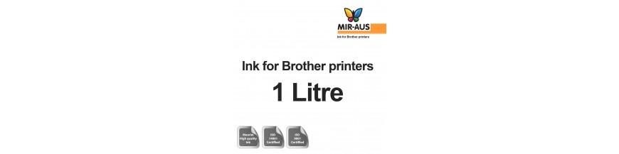 Garrafa de 1 litro de tinta recarregáveis para impressoras brother