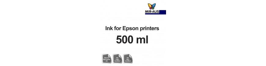 زجاجة 500 مل الحبر القابلة لإعادة الملء لطابعات Epson