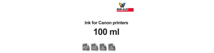 Refillable ink 100ml bottle for Canon printers