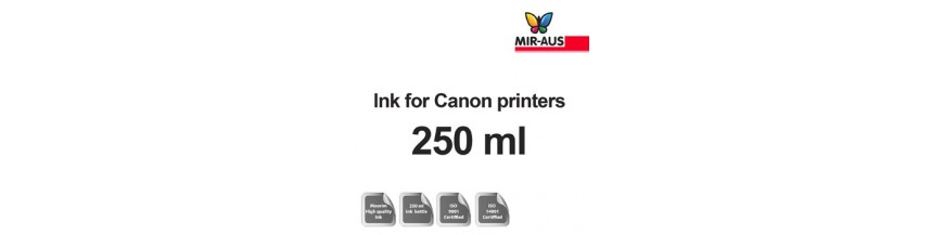 Refillable ink 250ml bottle for Canon printers