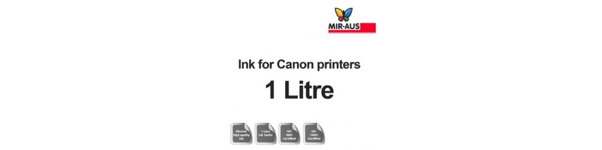 Refillable ink 1 litre bottle for Canon printers