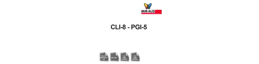 Genopfyldelige blæk 1 liter patron kode: CLI-8-BGB-5