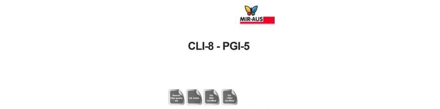 Código de cartucho de tinta recargable 1 litro: CLI-8-PGI-5
