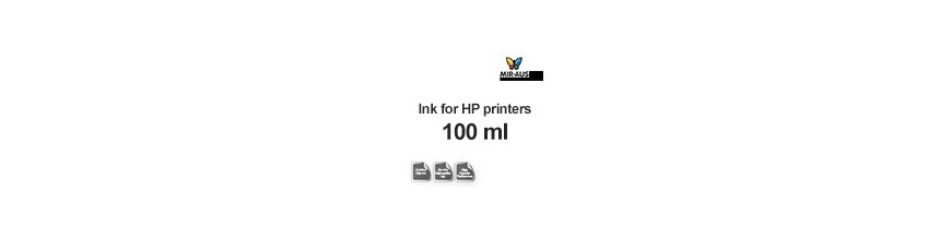 Refillable ink 100 ml bottle for HP printers