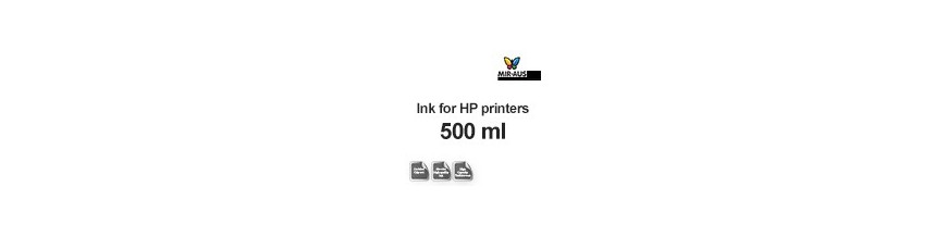 Refillable ink 500 ml bottle for HP printers
