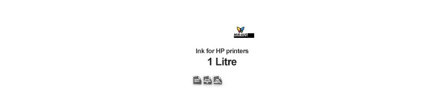 Refillable ink 1 Litre bottle for HP printers
