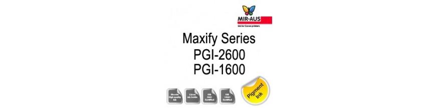 Maxify serie 1 litro código de cartucho PGI-1600 y 2600 de PGI
