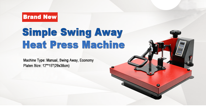 Simple Swing Away Heat Press Machine